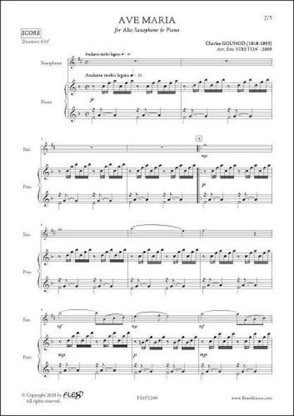 Ave Maria - C. GOUNOD - Saxophone Alto & Piano