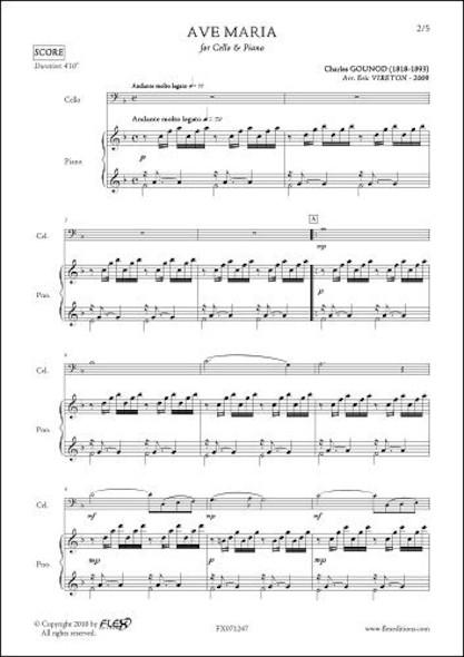 Ave Maria - C. GOUNOD - Violoncelle & Piano