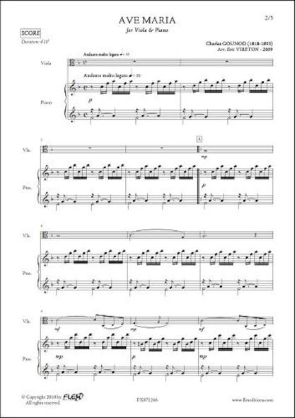 Ave Maria - C. GOUNOD - Alto & Piano
