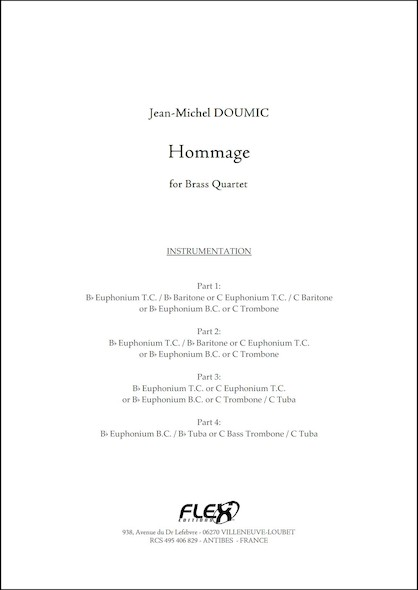 Hommage - J.-M. DOUMIC - Quatuor de Cuivres