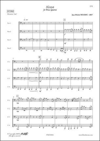 Alone - J.-M. DOUMIC - Quatuor de Cuivres