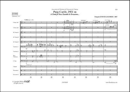 Puig Carlit - F. GHEUSI-LAGUERRE - Ensemble de Cuivres et Percussions