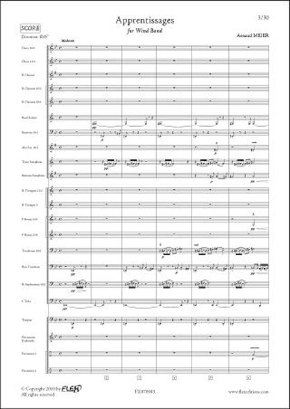 Apprentissages - A. MEIER - Orchestre d'Harmonie