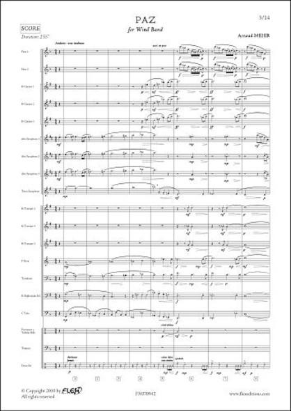 Paz - A. MEIER - Orchestre d'Harmonie