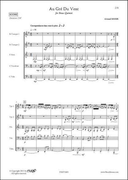Au Gré Du Vent - A. MEIER - Quintette de Cuivres