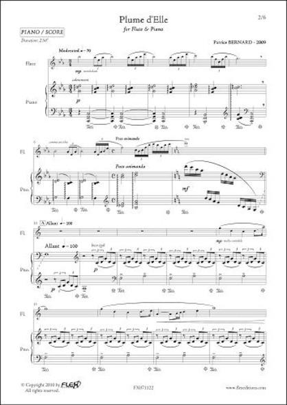Plume d'Elle - P. BERNARD - Flûte et Piano
