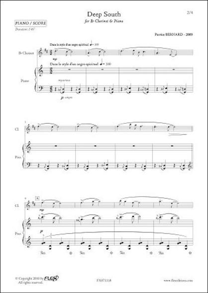 Deep South - P. BERNARD - Clarinette