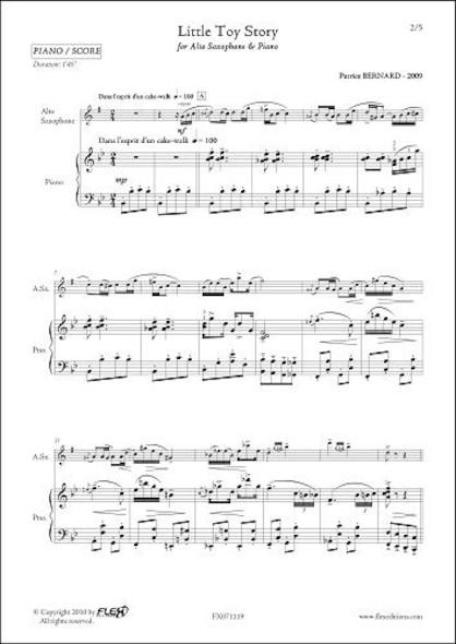 Little Toy Story - P. BERNARD - Saxophone Alto et Piano
