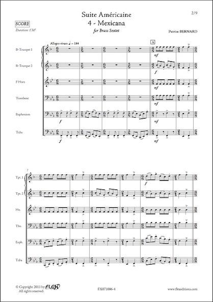 Suite Américaine - 4 - Mexicana - P. BERNARD - Sextuor de Cuivres
