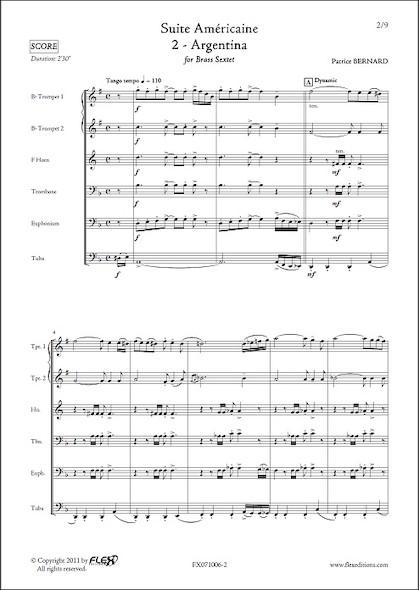 Suite Américaine - 2 - Argentina - P. BERNARD - Sextuor de Cuivres