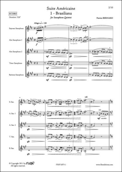 Suite Américaine - 1 - Brasiliana - P. BERNARD - Quintette de Saxophones