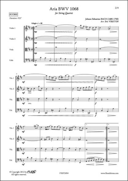 Aria BWV 1068 - J. S. BACH - Quatuor à Cordes