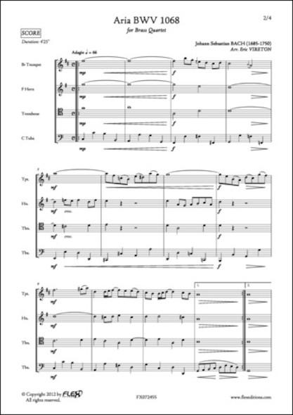 Aria BWV 1068 - J. S. BACH - Quatuor de Cuivres