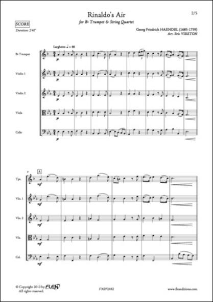 Air de Rinaldo - G. F. HAENDEL - Trompette et Quatuor à Cordes