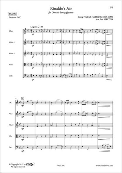 Air de Rinaldo - G. F. HAENDEL - Hautbois et Quatuor à Cordes