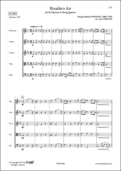 Air de Rinaldo - G. F. HAENDEL - Clarinette et Quatuor à Cordes