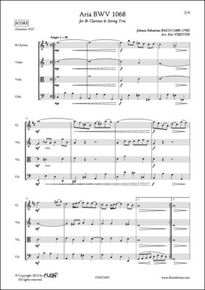 Aria BWV 1068 - J. S. BACH - Clarinette et Trio à Cordes