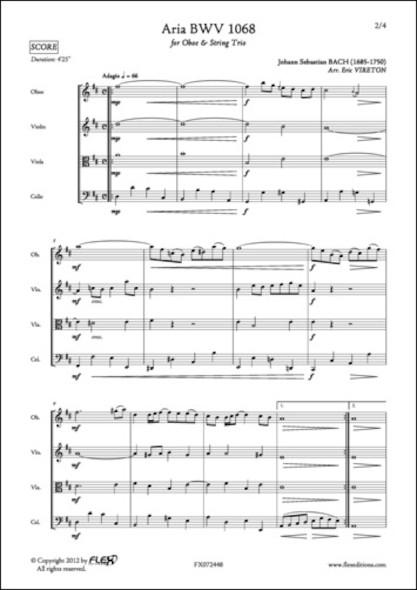 Aria BWV 1068 - J. S. BACH - Hautbois et Trio à Cordes