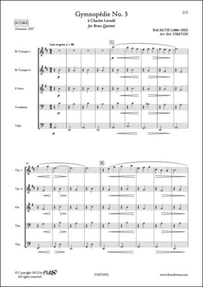 Gymnopédie No. 3 - E. SATIE - Quintette de Cuivres