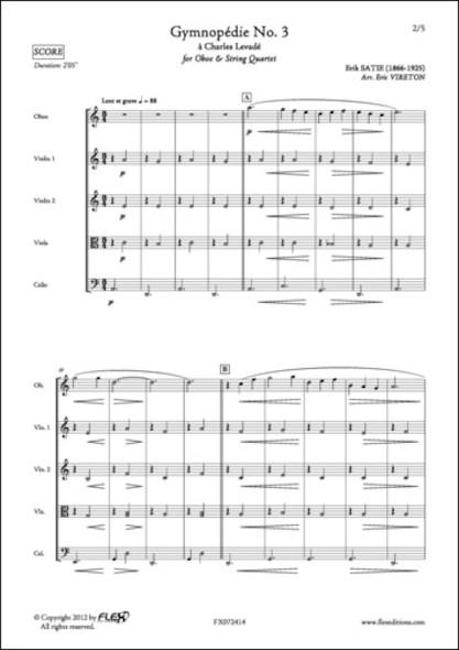 Gymnopédie No. 3 - E. SATIE - Hautbois et Quatuor à Cordes