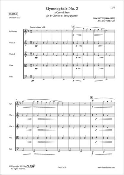 Gymnopédie No. 2 - E. SATIE - Clarinette et Quatuor à Cordes