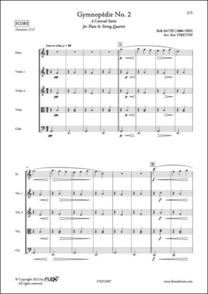 Gymnopédie No. 2 - E. SATIE - Flûte et Quatuor à Cordes