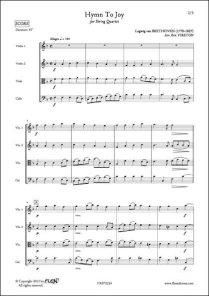 Hymne à la Joie - L. van BEETHOVEN - Quatuor à Cordes