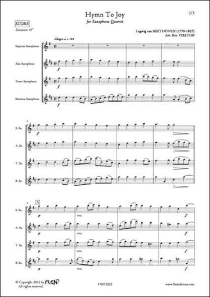 Hymne à la Joie - L. van BEETHOVEN - Quatuor de Saxophones