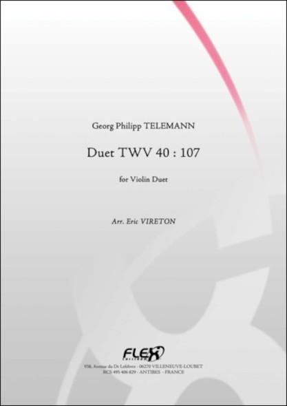 Duo TWV 40 : 107 - G. P. TELEMANN - Duo de Violons