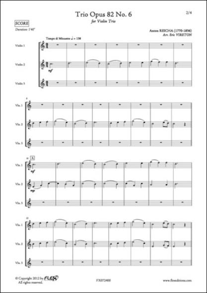 Trio Opus 82 No. 6 - A. REICHA - Trio de Violons