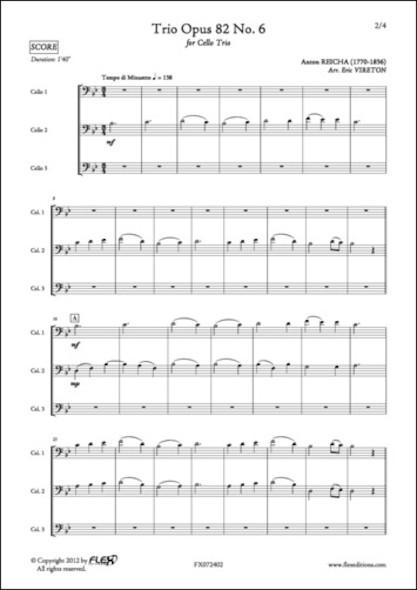 Trio Opus 82 No. 6 - A. REICHA - Trio de Violoncelles