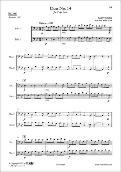 Duo No. 14 - ANONYME - Duo de Tubas