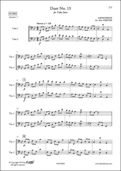 Duo No. 13 - ANONYME - Duo de Tubas