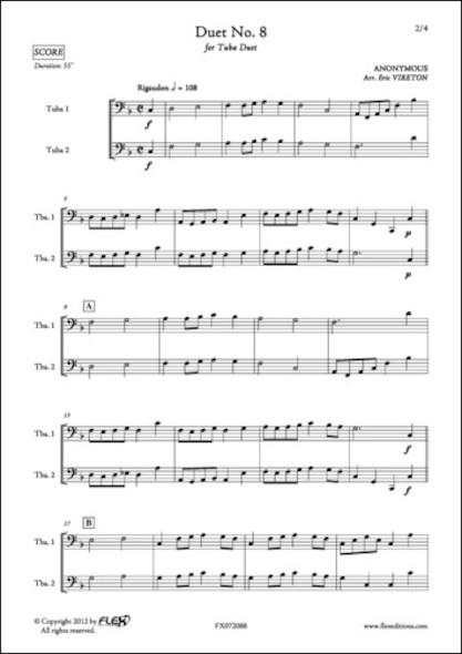 Duo No. 8 - ANONYME - Duo de Tubas