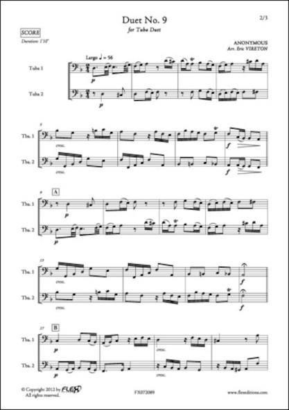 Duo No. 9 - ANONYME - Duo de Tubas