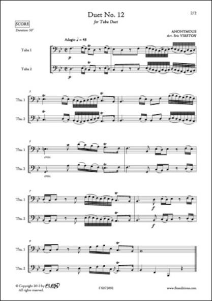 Duo No. 12 - ANONYME - Duo de Tubas