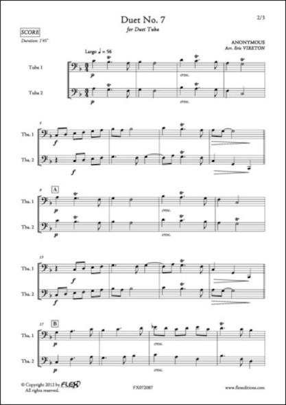 Duo No. 7 - ANONYME - Duo de Tubas