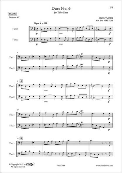 Duo No. 6 - ANONYME - Duo de Tubas