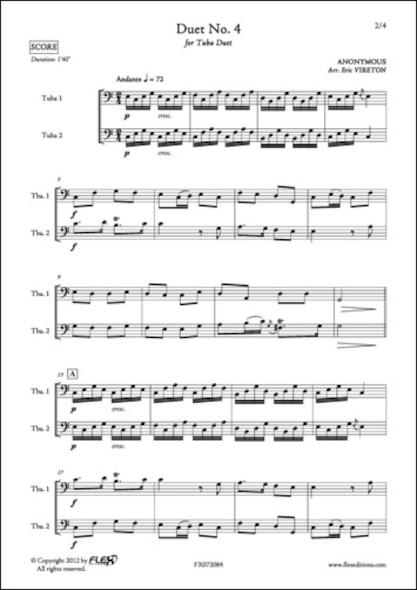 Duo No. 4 - ANONYME - Duo de Tubas