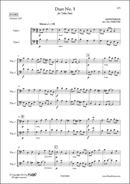 Duo No. 3 - ANONYME - Duo de Tubas