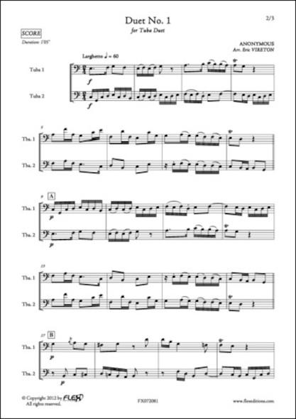 Duo No. 1 - ANONYME - Duo de Tubas