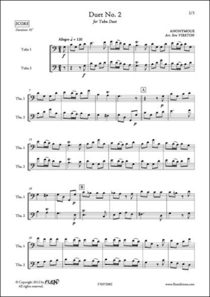 Duo No. 2 - ANONYME - Duo de Tubas