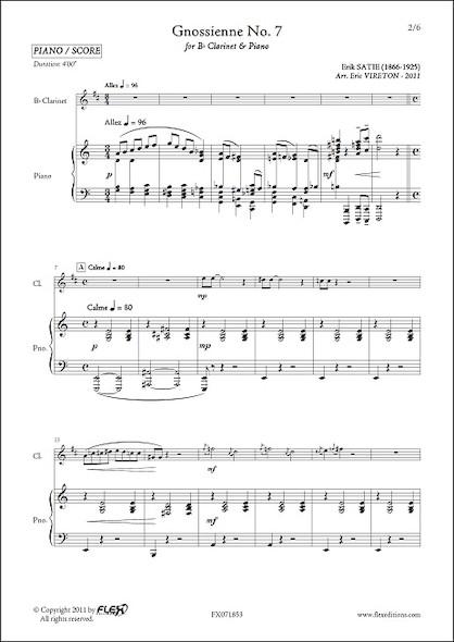 Gnossienne No. 7 - E. SATIE - Clarinette & Piano