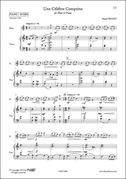 Une Célèbre Comptine - P. PROUST - Flûte et Piano