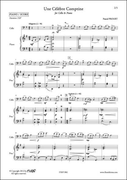 Une Célèbre Comptine - P. PROUST - Violoncelle et Piano