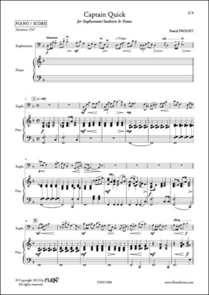 Captain Quick - P. PROUST - Euphonium/Saxhorn et Piano