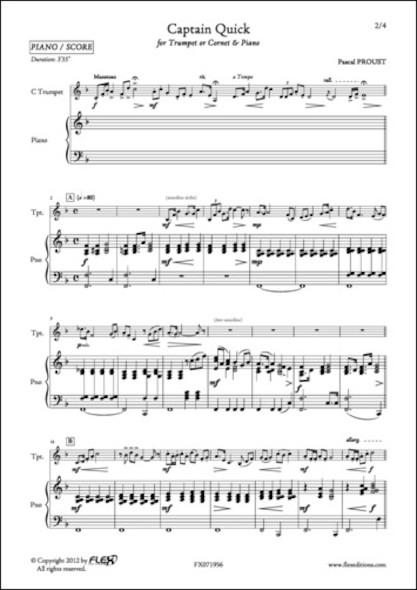 Captain Quick - P. PROUST - Trompette/Cornet et Piano