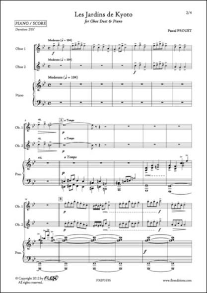 Les Jardins de Kyoto - P. PROUST - Duo de Hautbois et Piano