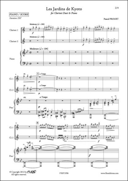 Les Jardins de Kyoto - P. PROUST - Duo de Clarinettes et Piano