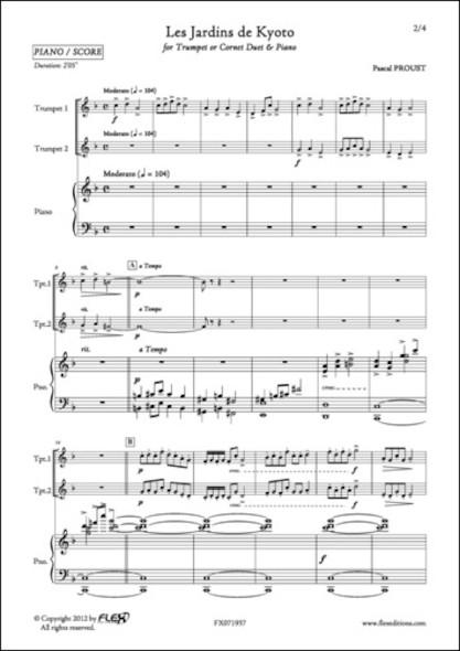 Les Jardins de Kyoto - P. PROUST - Duo de Trompettes et Piano